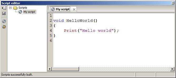 Writing and running custom scripts