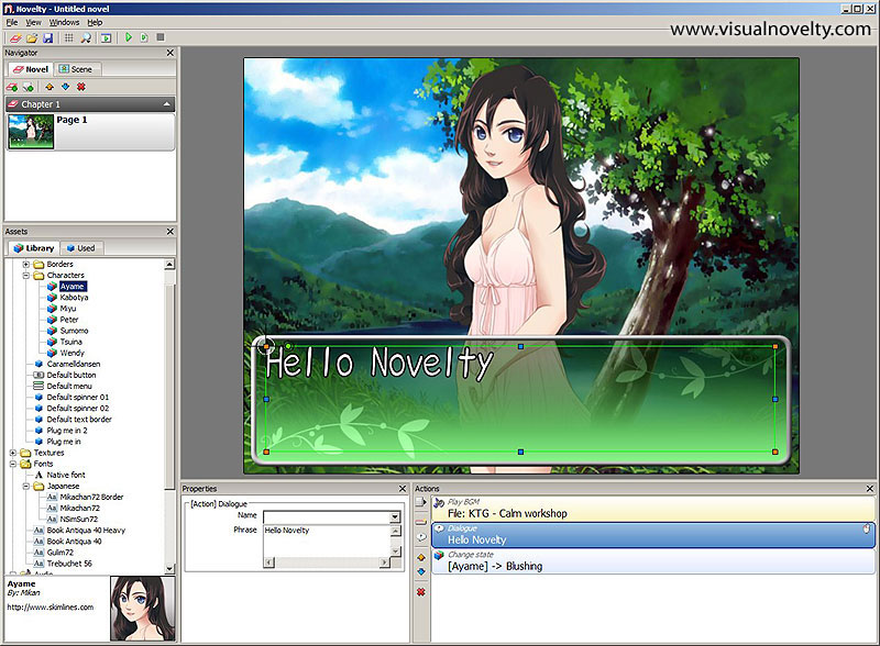 Novelty - Visual novel maker